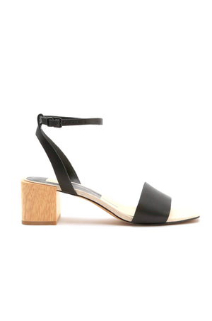 Zarita Black Leather Heeled Sandal by Dolce Vita