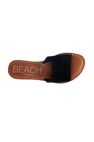 Black Suede Cabana Slides by Matisse Footwear