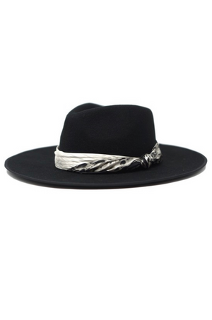Mesa Wool Black Felt Fedora Hat by Olive & Pique