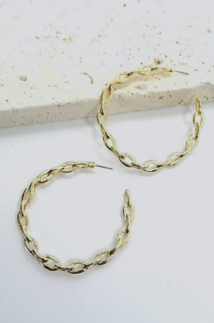 Gold Abacos Hoop Earrings