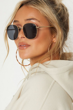 Jezabell Sunglasses (Gold/Smoke) by Quay