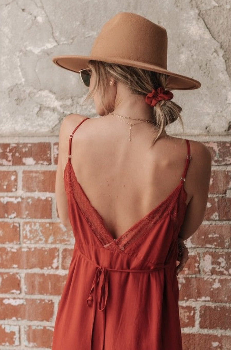 Sunset Lace Slip Maxi Dress