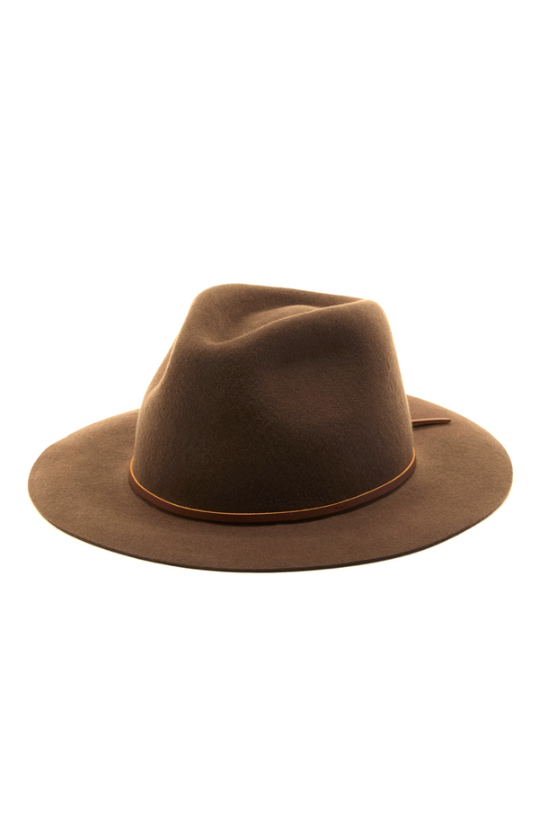 Brown Wesley Fedora by Brixton