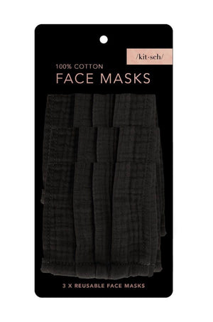 3 Pc Black Masks by Kitsch