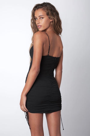 Take Me Out Black Mini Dress