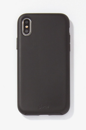 Black PU Leather iPhone (X/XS) Case by Sonix