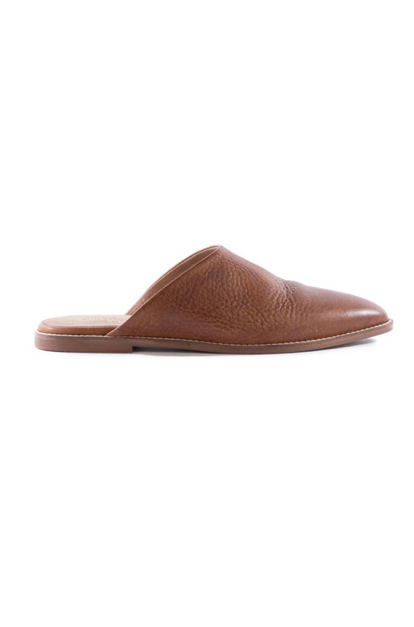 Impersonate Brown Leather Mules by Seychelles