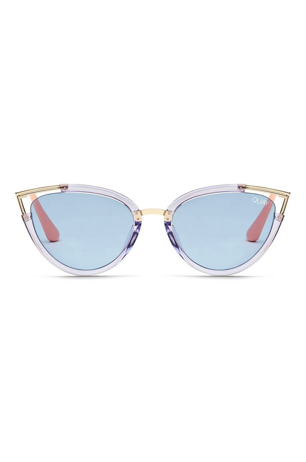 Hearsay Sunglasses (Blue/Blue) by Quay