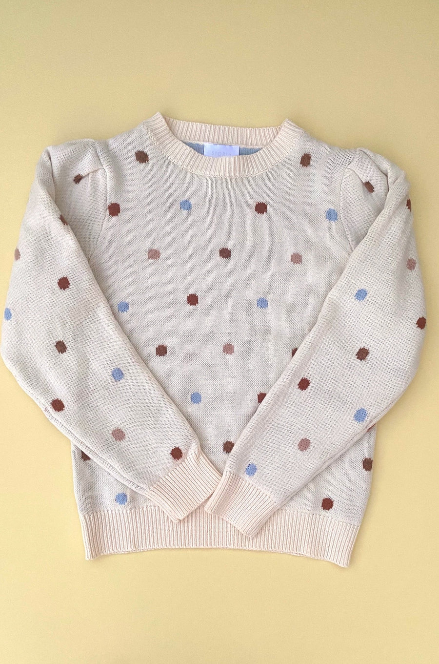 On The Polka Dot Sweater