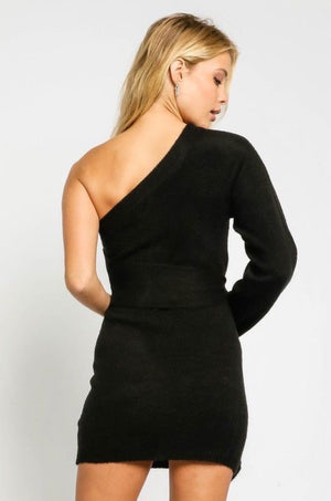 Hendrix One Shoulder Sweater Dress