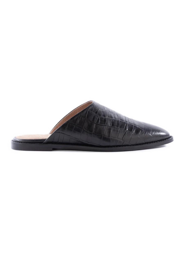 Impersonate Black Croco Mules by Seychelles