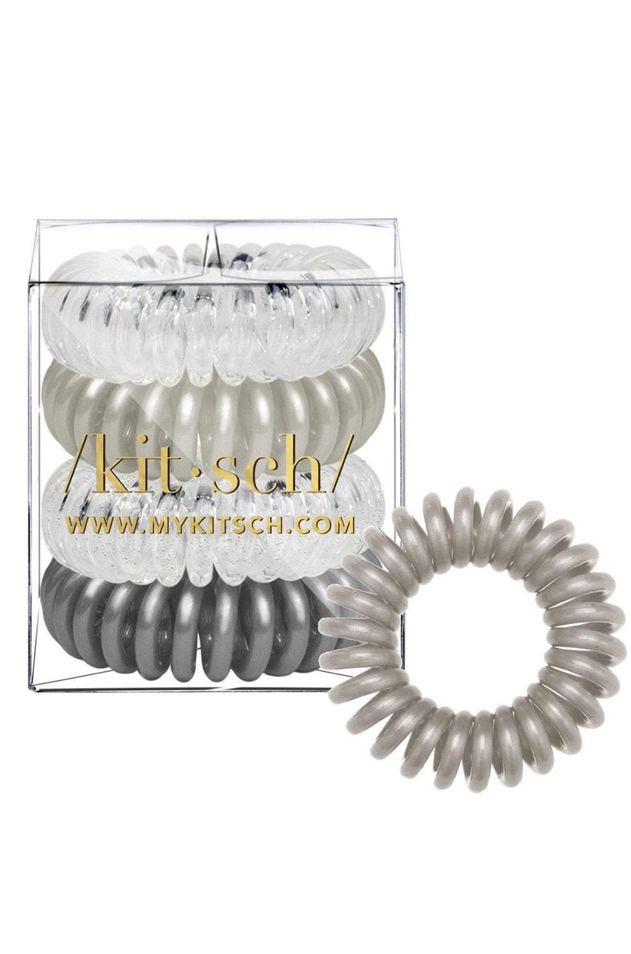 4 Pc Charcoal Hair Coils by Kitsch