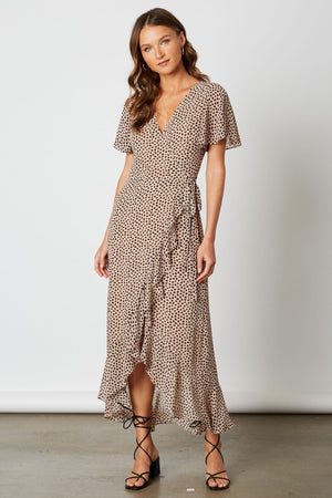 You've Been Spotted Wrap Dress