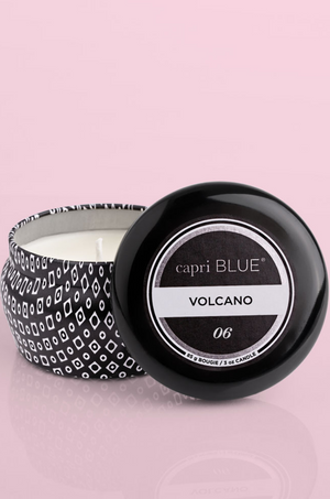 Volcano Black Signature Mini Tin 3 Oz Candle by Capri Blue