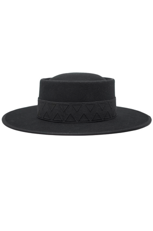 Lewis Black Felt Gambler Hat by Olive & Pique