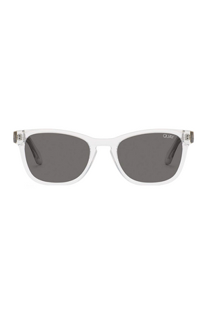 Hardwire Mini Sunglasses (Clear/Smoke) by Quay