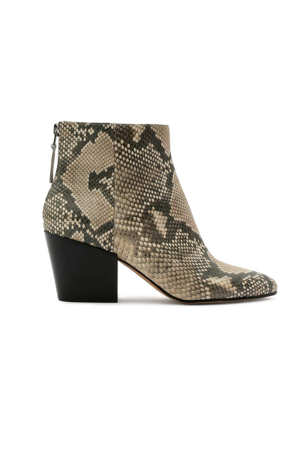 Coltyn Snake Print Booties by Dolce Vita