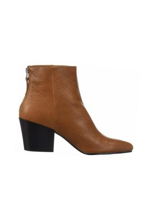 Coltyn Brown Leather Booties by Dolce Vita