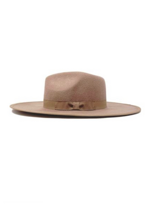 Barry Wool Pecan Felt Fedora Hat by Olive & Pique