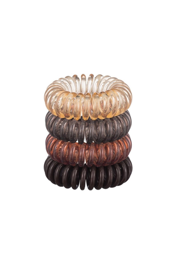 4 Pc Brunette Hair Coils by Kitsch