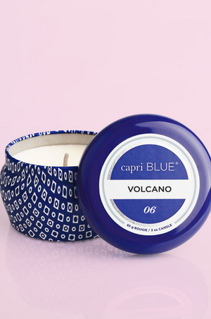 Volcano Blue Signature Mini Tin 3 Oz Candle by Capri Blue