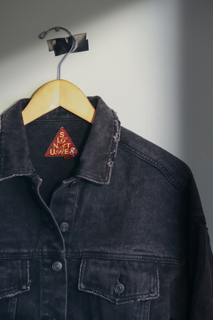 Faded Black Denim Jacket