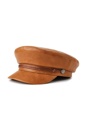 Leather Fiddler Cap by Brixton