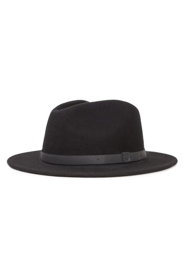 All Black Messer Fedora by Brixton