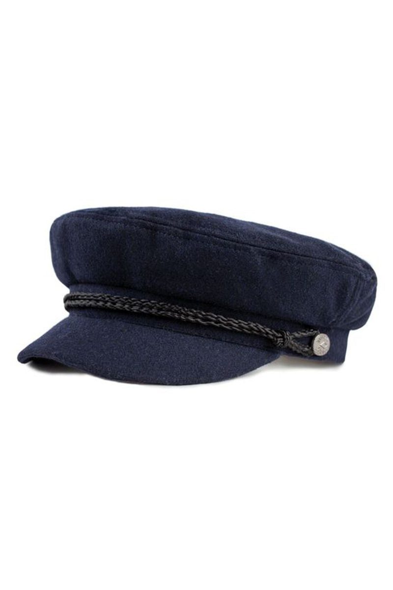 Navy Fiddler Cap by Brixton