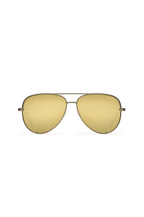 High Key Sunglasses (Gold/Gold) by Quay