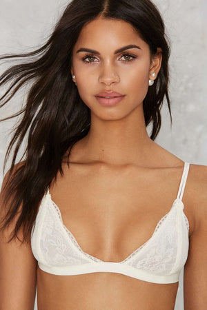 White Sweeny Lace Bralette