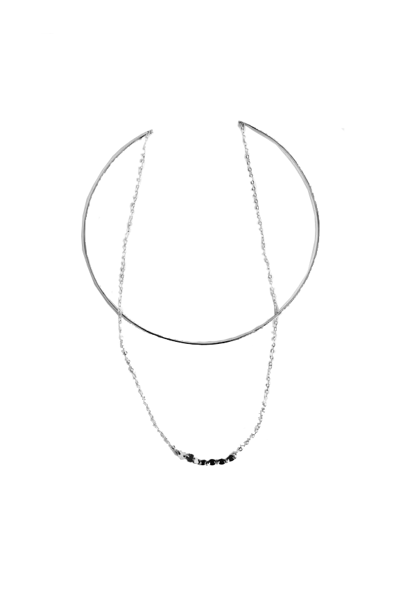 Silver Voyager Chocker by Paradigm