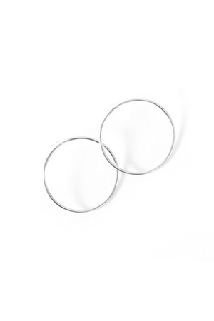 Silver Infinity Hoop Earrings by Marida Jewelry