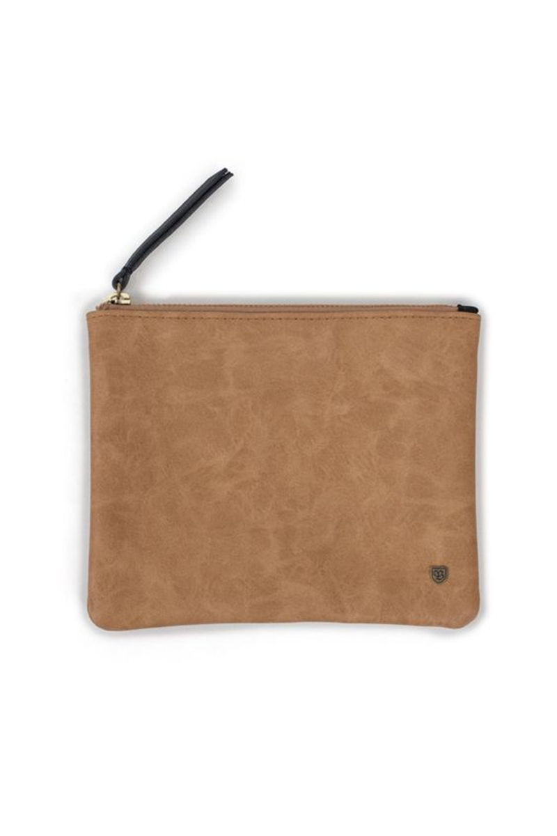Tan Jill Clutch by Brixton