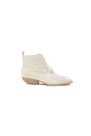 White Leather Uma Booties by Dolce Vita