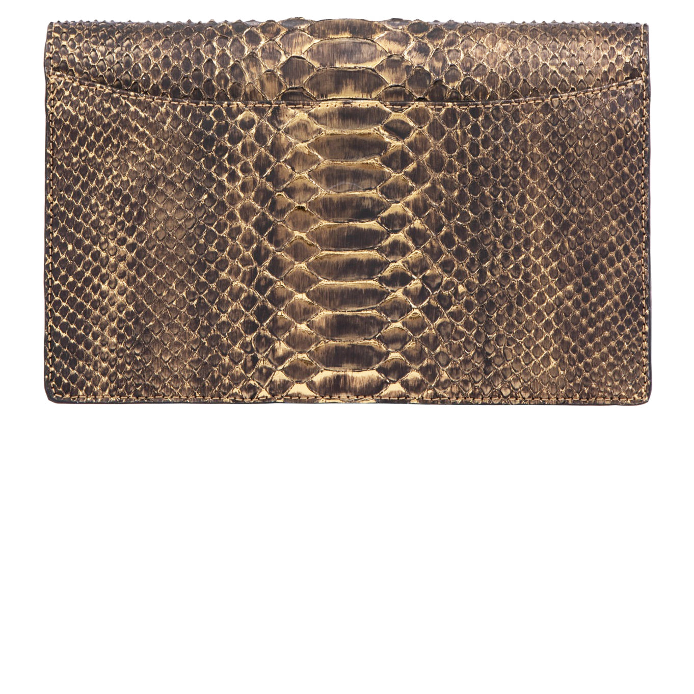 CAPE COBRA- IVY BAG IN BRONZE METALLIC PYTHON