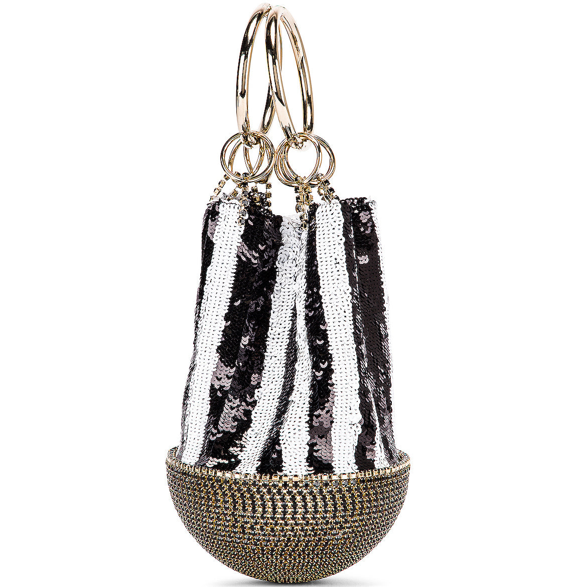 Silvia Tcherassi - Rosantica Atacama Striped Sequin Bag