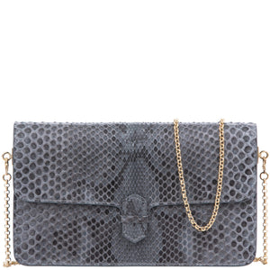 CAPE COBRA- ACCORDION CROSSBODY WALLET IN ANTHRACITE PYTHON