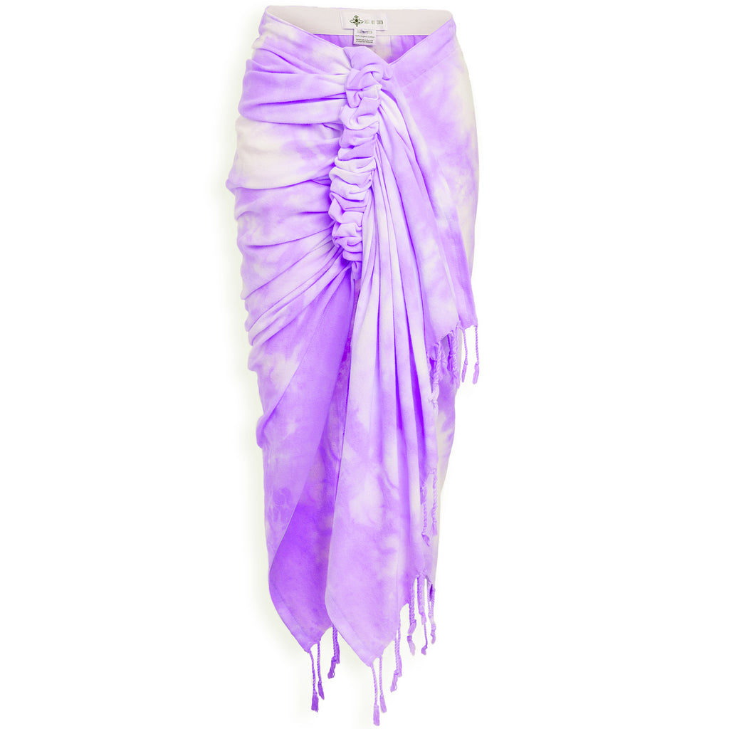 JUST BEE QUEEN- Purple Tie Dye Skirt