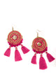 Large Round Drop Earrings