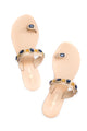 Nude Toe Ring sandal with Crystals KS17-63SO