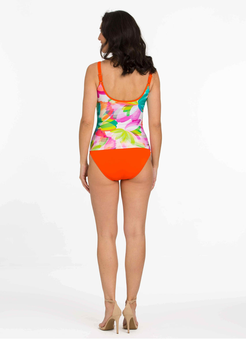 a74295bf0a Barceloneta Tankini with Tangerine High Waist Bottom with Wide Band (B – TARA  GRINNA SWIMWEAR