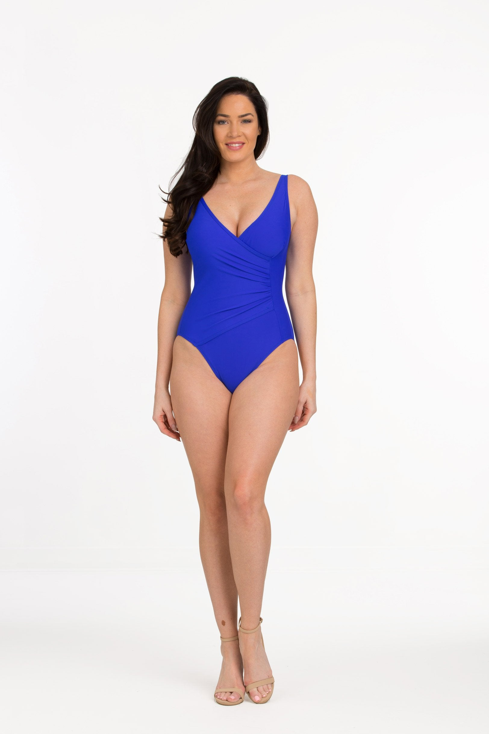 fast color quality clear-cut texture Surplice Maillot with Shelf Bra (Style 313)