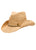 Claudiana Raffia Cowboy Hat with Gold Beaded Trim