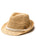 Raffia Fedora with Natural Trim