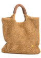 Raffia Leather Handle Tote