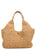 Raffia Leather Shoulder Tote
