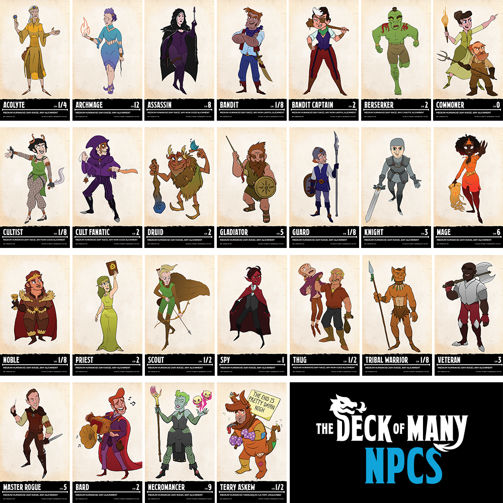 picture regarding Deck of Many Things Printable called Package deal: Preset of The Deck of Plenty of + PDF