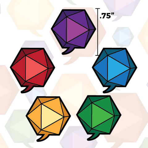 D20 Take Action Enamel Pins