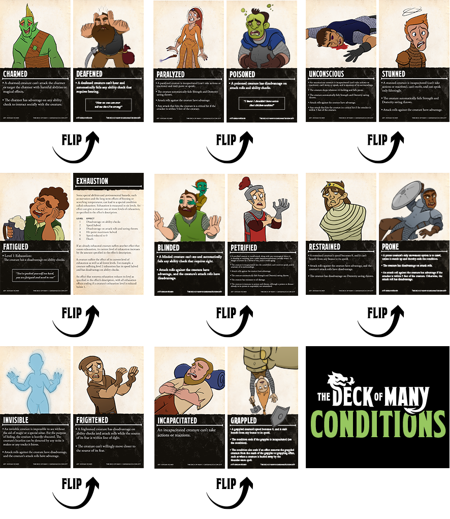 graphic relating to Deck of Many Things Printable titled Package: Fixed of The Deck of Countless + PDF